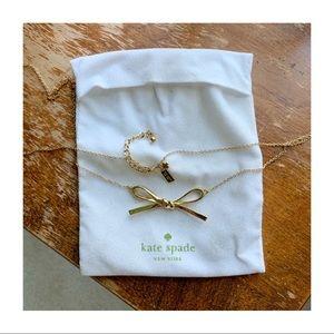 [kate ♠️] Skinny Mini Bow Necklace